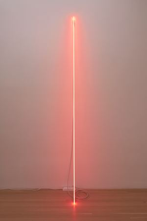 """Leaning Horizon (Neon Red 2.1)"" by Cerith Wyn Evans contemporary artwork"