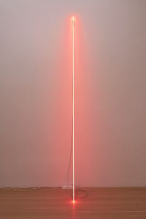 Leaning Horizon (Neon Red 2.1) by Cerith Wyn Evans contemporary artwork