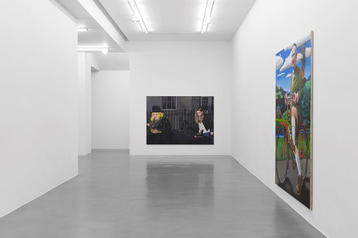 Exhibition view: Merlin Carpenter, Simon Lee Gallery, London (22 November 2019–18 January 2020). Courtesy Simon Lee Gallery. Photo:  Ben Westoby.