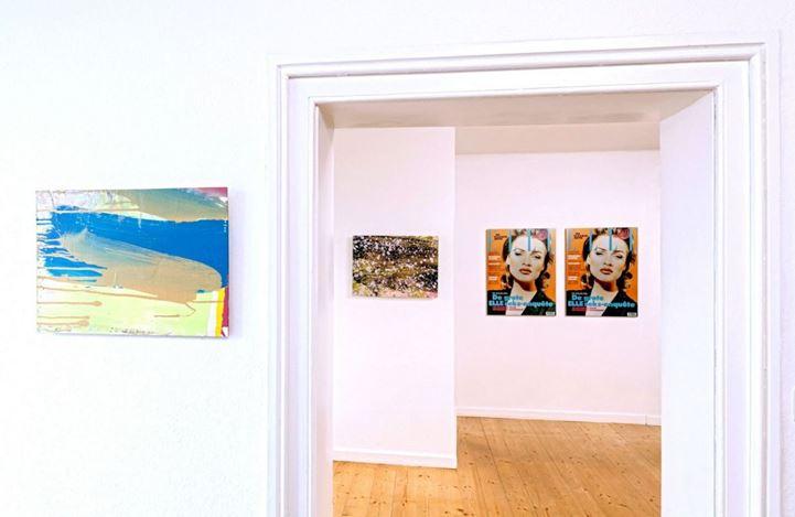 Exhibition view: Group Exhibition,Ich hab im Traum die Schweiz gesehn, Galerie Tanit, Munich (6 January–6 February 2021). Courtesy Galerie Tanit.