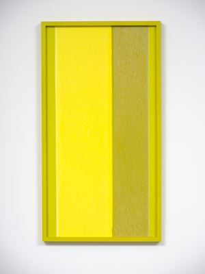 ICON green yellow (iv) by Shaun Waugh contemporary artwork