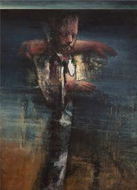 Bearing the Arm by Nikos Aslanidis contemporary artwork painting