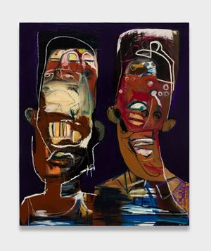 Blood Brother's by Genesis Tramaine contemporary artwork