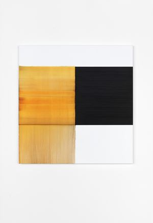Exposed Painting Quinacridone Gold by Callum Innes contemporary artwork