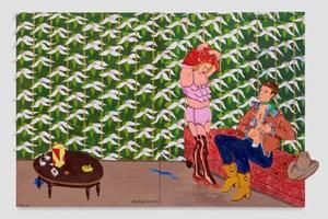 Diana's Secret (The Orchid Corsage) by Robert Colescott contemporary artwork