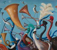 Hubbub by Joanna Braithwaite contemporary artwork painting