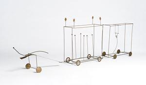 Carro di Tespi / Chariot of Thespis by Fausto Melotti contemporary artwork