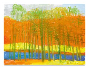Through Trees to a Yellow Field by Wolf Kahn contemporary artwork