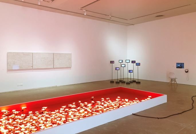Exhibition view: Group Exhibition, Summer Wind Flirts among Words 夏风惹来一堆字, ShanghART, Westbund, Shanghai (27 July–28 August 2019). Courtesy ShanghART. Photo: Shi Yong.