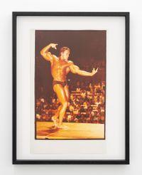 Arnold Schwarzenegger, Mr Olympia 1980, Sydney by Fiona Clark contemporary artwork print