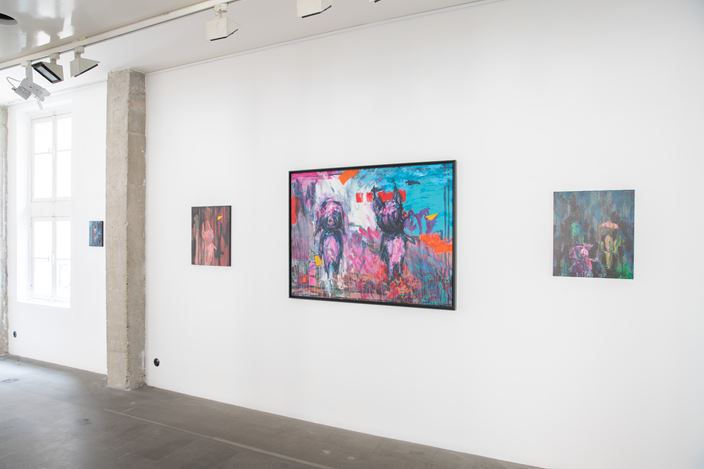 Exhibition view:Takashi Hara,Pig Nation—A Story of Humanity, A2Z Art Gallery, Paris (26 January–23 February 2019). Courtesy A2Z Art Gallery.