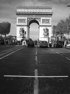 Arch of Triumph Paris France by Lotty Rosenfeld contemporary artwork