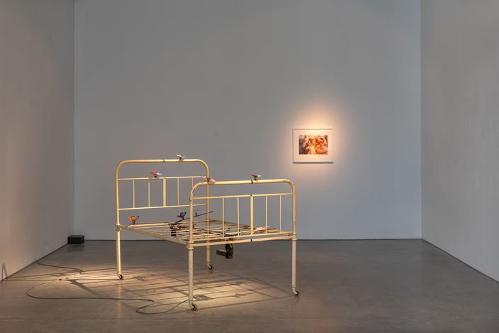 Exhibition view: Group Exhibition,Listen to a heart beat, Galerie Thomas Schulte, Berlin (23 May–11 July 2020). Courtesy Galerie Thomas Schulte.