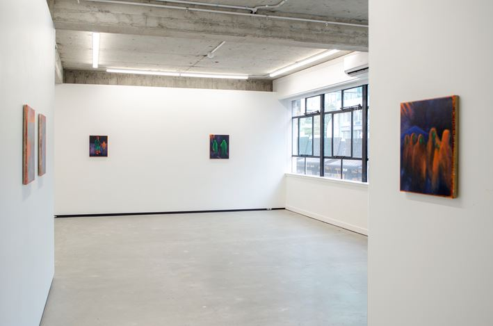 Exhibition view: William Bennett,Polyester Soldiers Stitch Witches, Jhana Millers, Wellington (16 July–8 August 2020). Courtesy Jhana Millers.