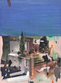 The Drunks at the Club by Xie Tianzhuo contemporary artwork painting, works on paper