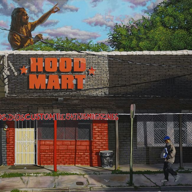 Hood Mart (1 for 5, 3 for 10) by Alfred Conteh contemporary artwork