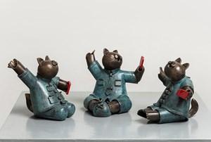 Cat Meeting by Jiang Shuo contemporary artwork