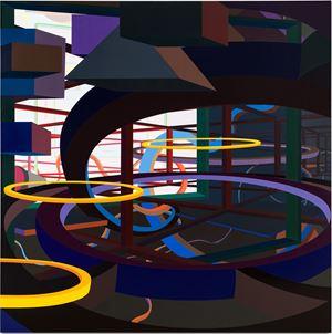 VORCEX VI by Al Held contemporary artwork