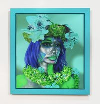 Turquoise Woman by Ashley Bickerton contemporary artwork painting, works on paper