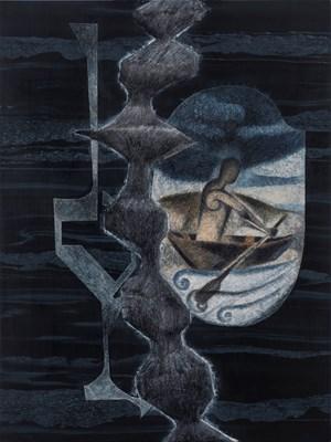 Departure by Atul Dodiya contemporary artwork