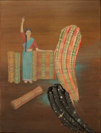 Smears to weave her everyday by NS Harsha contemporary artwork painting