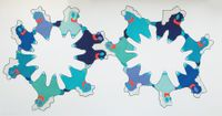 Blue Wave by Caroline Wells Chandler contemporary artwork textile