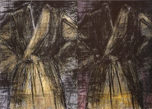 Two Dark Robes by Jim Dine contemporary artwork