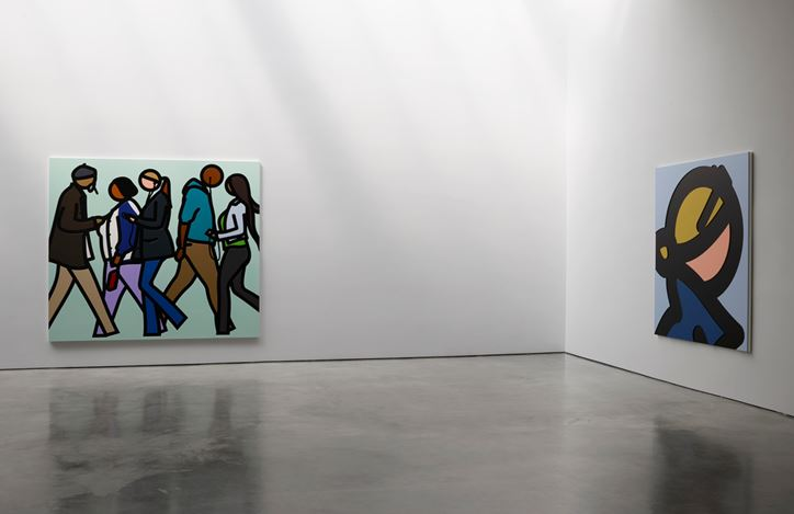 Exhibition view: Julian Opie,Lisson Gallery, West 24th Street, New York (1 March– 20 April 2019). Courtesy Lisson Gallery.