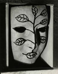 Masque peint (Painted Mask) by Man Ray contemporary artwork photography