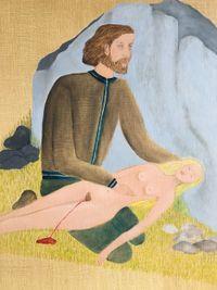 Hilito y Finadita by Cecilia Vicuña contemporary artwork painting