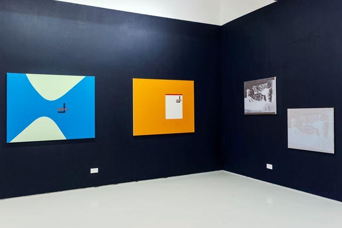 Exhibition view: David Diao, ShanghART, Singapore (22 January–28 February 2021). Courtesy ShanghART.
