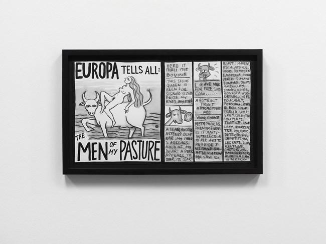 Europa Tells All by Mary Reid Kelley contemporary artwork