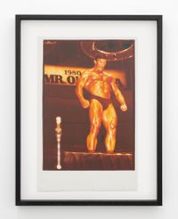 Boyer Coe, Mr Universe contestant and Mr Olympia, 1980, Sydney by Fiona Clark contemporary artwork print