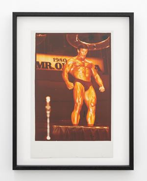 Boyer Coe, Mr Universe contestant and Mr Olympia, 1980, Sydney by Fiona Clark contemporary artwork