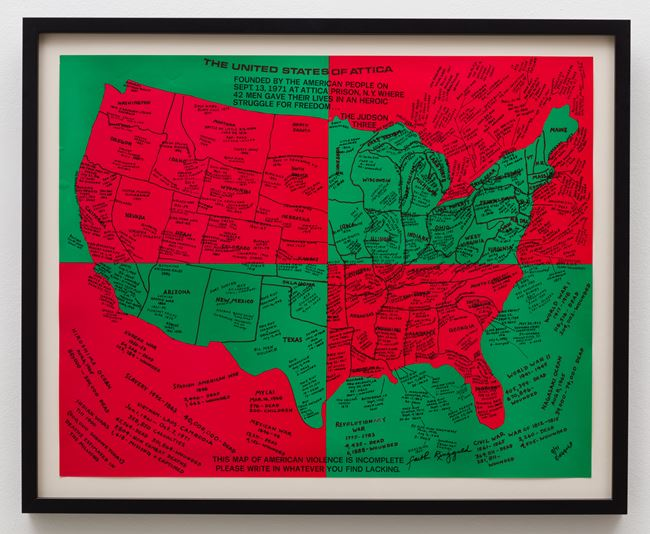 United States of Attica by Faith Ringgold contemporary artwork