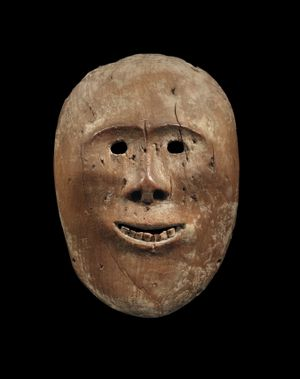 Mask representing an ancestral spirit, or a shaman by Arctic Circle contemporary artwork