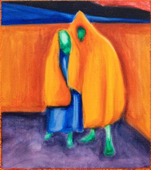 Hooded couple by William Bennett contemporary artwork