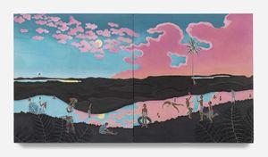 Berenang Malam by Adam De Boer contemporary artwork painting