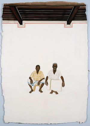 Two Men from Chettinad by Desmond Lazaro contemporary artwork