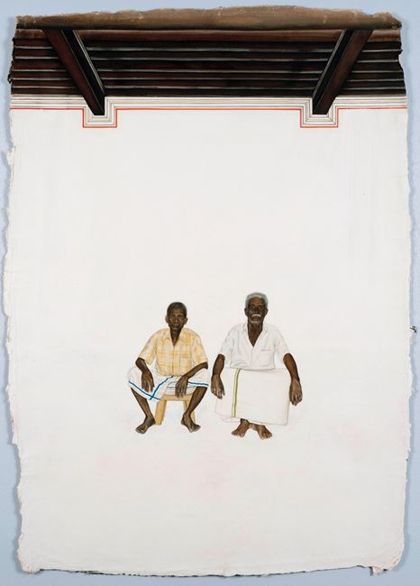 Two Men from Chettinad by Desmond Lazaro contemporary artwork