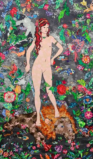 The messenger (Eve. 8) by Soraya Sharghi contemporary artwork
