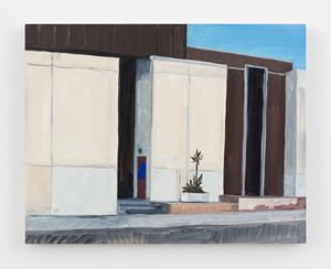 Building with desert plant by Jean-Philippe Delhomme contemporary artwork