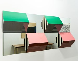 Prisms and Mirrors, high reliefs,  situated works by Daniel Buren contemporary artwork
