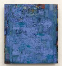 blue green orange ocher blue by Peter Tollens contemporary artwork painting