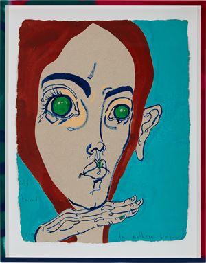 old friend by Del Kathryn Barton contemporary artwork