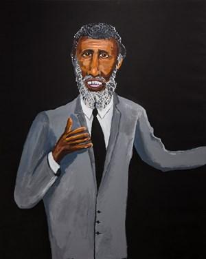 Legends, Eddie Mabo by Vincent Namatjira contemporary artwork
