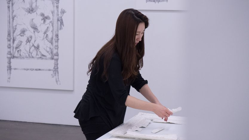 JooLee Kang,OnStand In Glass (2021), work on paper. Courtesy Gallery Chosun.