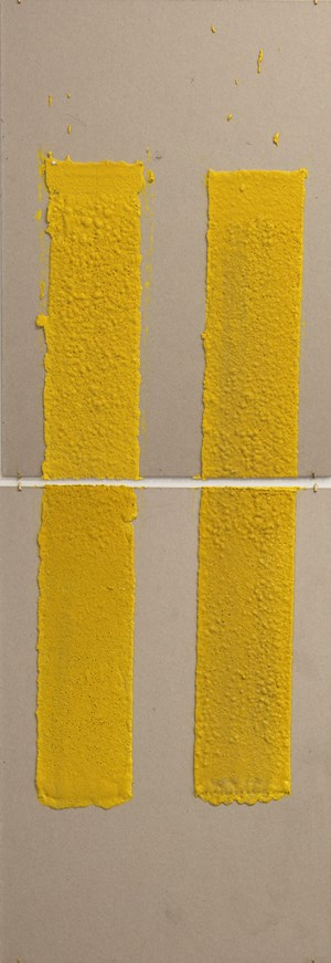4in (Section) (W), 2.27mm (T), Yellow, Double Yellow Discontinuous, Manual Marking, Lewis St, Btw Delancey St - Grand St by Vikram Divecha contemporary artwork
