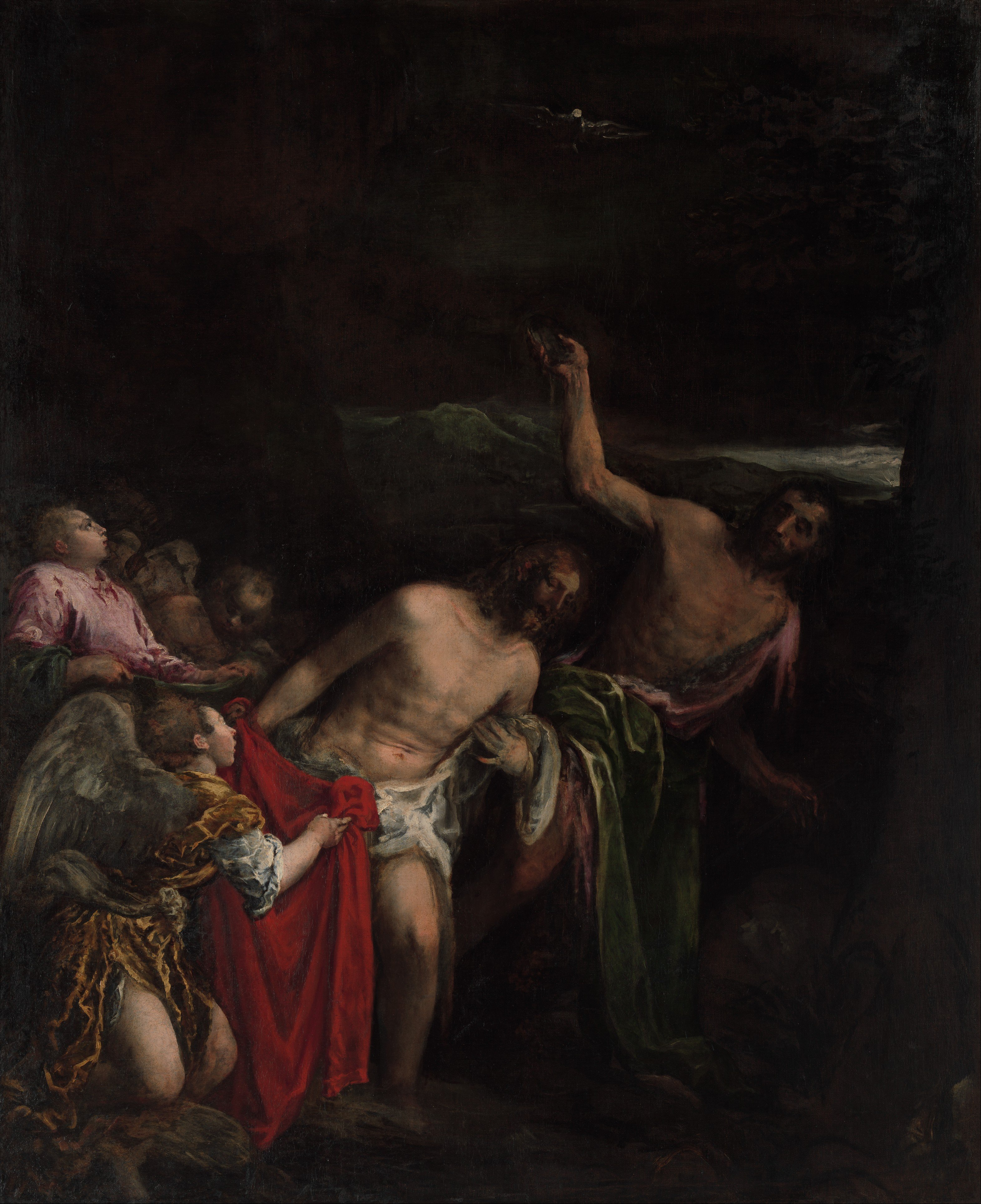 Jacopo Bassano, The Baptism of Christ, ca.1590. Oil on canvas, 191.8 x 160.3 cm. Partial and Promised Gift of Mr. and Mrs. Mark Fisch, 2012. Courtesy The Metropolitan Museum of Art.