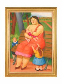 Maternity by Fernando Botero contemporary artwork painting